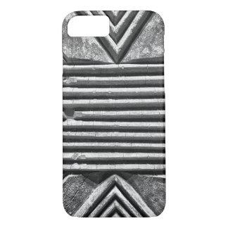 Modern Stone Geometric Black & White Photo Pattern iPhone 7 Case