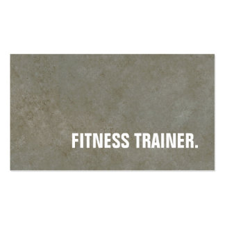 Modern Stone Wall Grey Fitness Trainer Pack Of Standard Business Cards
