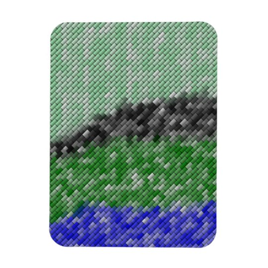 Modern strange pattern magnet