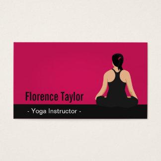 Modern, Striking, Pink Yoga Instructor Business Card