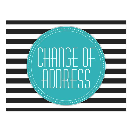 Modern Striped Change of Address Postcards