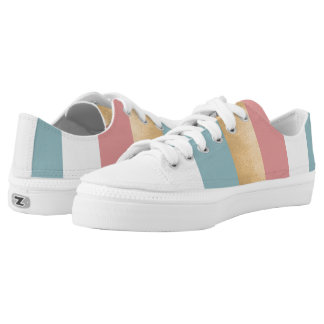 Modern Striped ZipZ Tennis Shoes