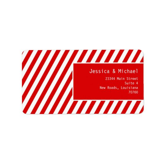 Modern Stripes Address Label