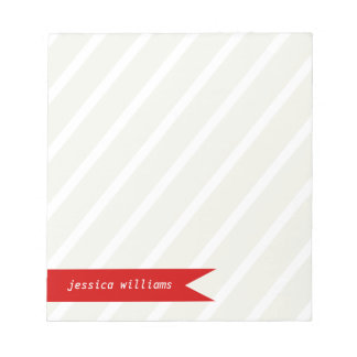 Modern Stripes and Banner Notepad