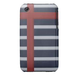 Modern Stripes Blue iPhone 3 Cases
