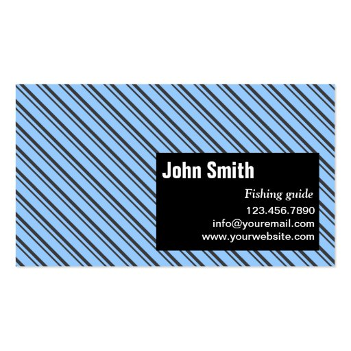 Modern Stripes Fishing Guide Business Card