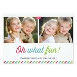 Modern Stripes   Holiday Photo Card 13 Cm X 18 Cm Invitation Card