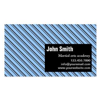 Modern Stripes Martial Arts Business Card