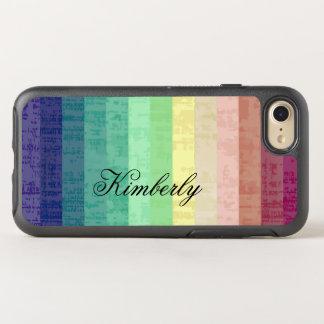 Modern Stripes Monogram Style OtterBox Symmetry iPhone 8/7 Case