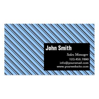 Modern Stripes Sales Manager Business Card