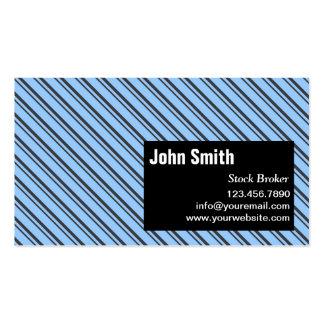 Modern Stripes Stock Broker Business Card