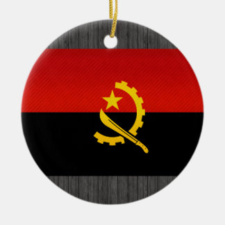 Modern Stripped Angolan flag Christmas Ornament
