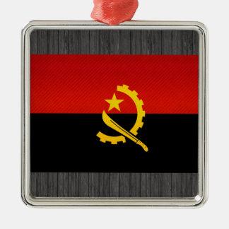 Modern Stripped Angolan flag Christmas Ornament