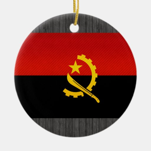 Modern Stripped Angolan flag Christmas Ornaments
