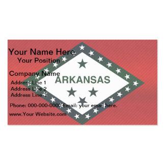 Modern Stripped Arkansan flag Pack Of Standard Business Cards