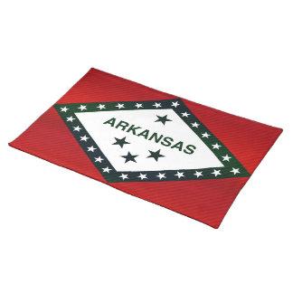 Modern Stripped Arkansan flag Placemats