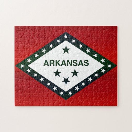 Modern Stripped Arkansan flag Puzzle
