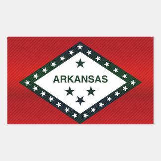 Modern Stripped Arkansan flag Rectangular Sticker