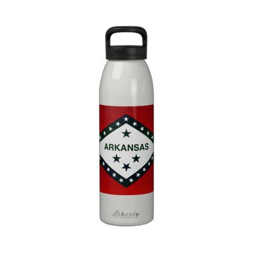 Modern Stripped Arkansan flag Reusable Water Bottle