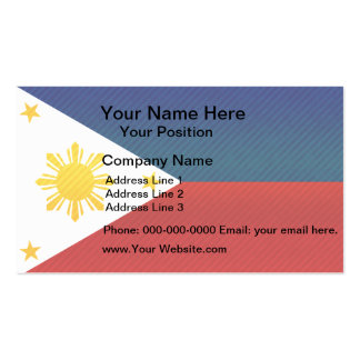 Modern Stripped Filipino flag Business Cards