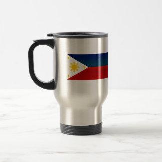 Modern Stripped Filipino flag Coffee Mugs
