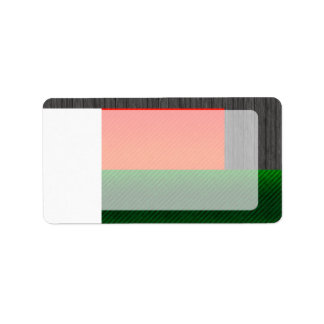 Modern Stripped Malagasy flag Address Label