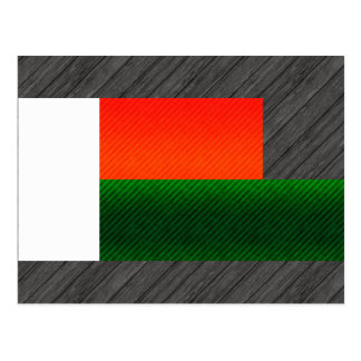 Modern Stripped Malagasy flag Post Card