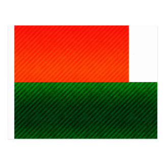Modern Stripped Malagasy flag Post Cards