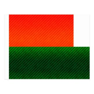 Modern Stripped Malagasy flag Postcard