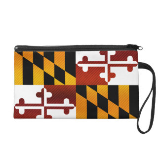 Modern Stripped Marylander flag Wristlet