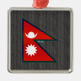 Modern Stripped Nepalese flag Christmas Tree Ornaments