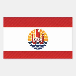 Modern Stripped Polynesian flag Rectangle Sticker