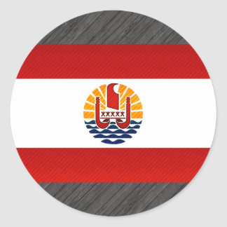 Modern Stripped Polynesian flag Round Sticker