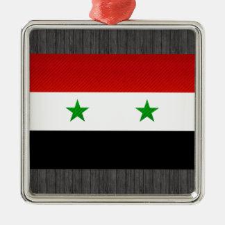 Modern Stripped Syrian flag Christmas Ornament