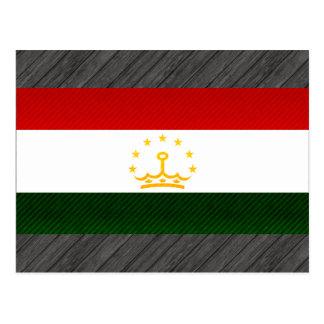 Modern Stripped Tajik flag Postcard