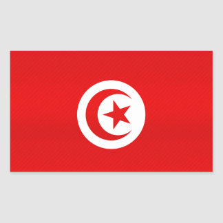 Modern Stripped Tunisian flag Rectangle Sticker