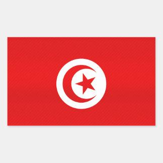 Modern Stripped Tunisian flag Rectangle Sticker