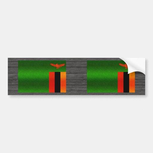 Modern Stripped Zambian flag Bumper Sticker