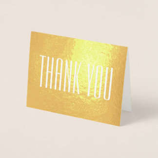 Modern Style Font Thank You Foil Card