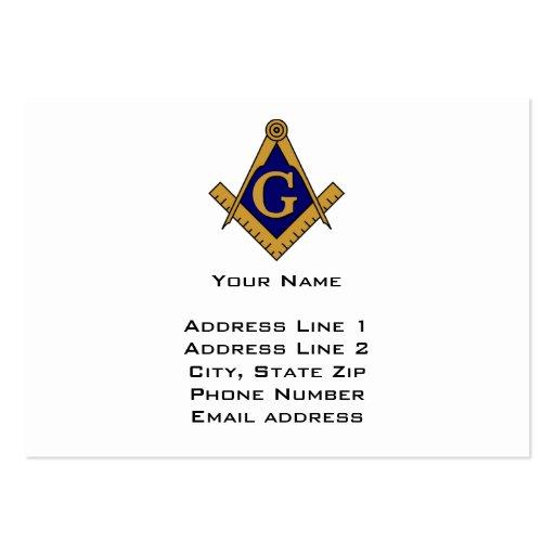 Modern Style Freemason Business Card