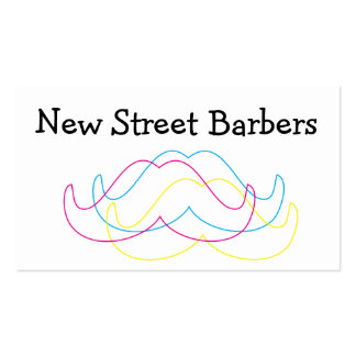 Modern style Moustache business card
