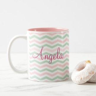 Modern Style Name Drop Two-Tone Coffee Mug