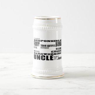 Modern Stylish Best & Greatest Uncles : Qualities Beer Stein