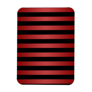 Modern Stylish Black and Red Stripes Pattern Magnet