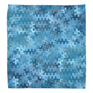 Modern Stylish Blue Pattern Bandana