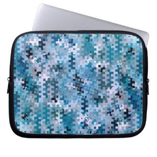 Modern Stylish Blue Pattern Laptop Sleeve