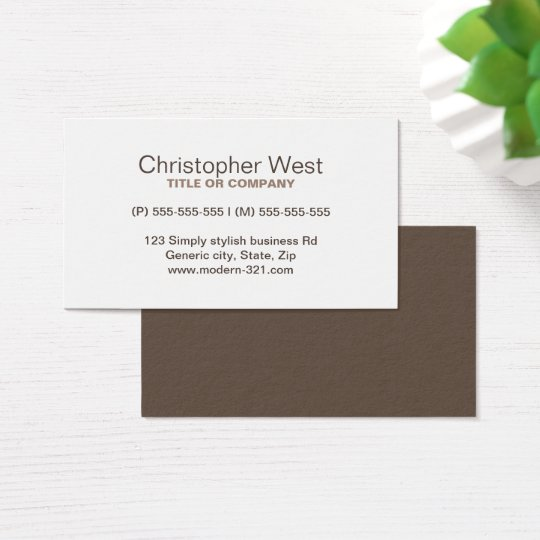 Modern stylish brown professional profile business card