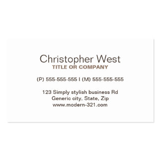 Modern stylish brown professional profile pack of standard business cards