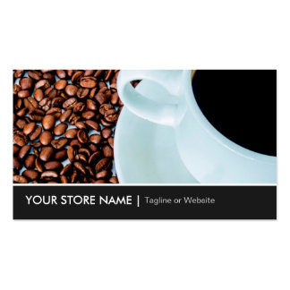 Modern Stylish Coffee Cup Coffee Beans Cafe Store Pack Of Standard Business Cards