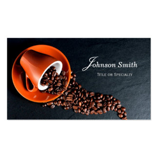 Modern Stylish Coffee Cup Coffee Beans Pack Of Standard Business Cards